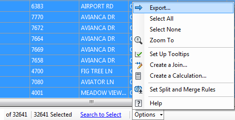 Exercise 5: Export the data to CSV for use in a report