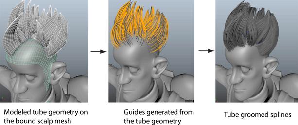 Maya Help: Create a hairstyle using Tube Groom