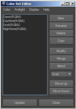 Color Set Editor Maya 2018 Autodesk Knowledge Network