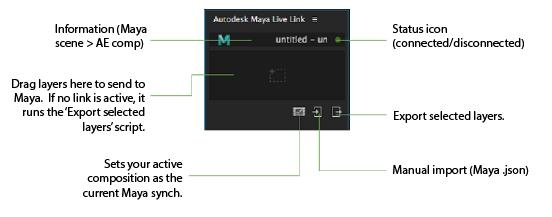 AE Live Link window | Maya 2018 | Autodesk Knowledge Network