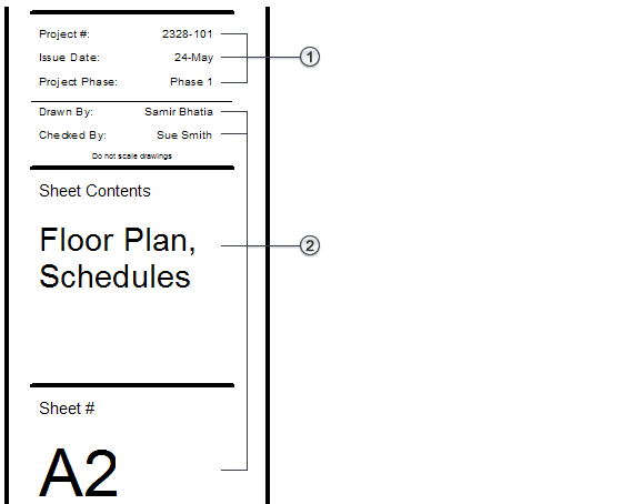 About Title Block Information for Sheets | Revit Products