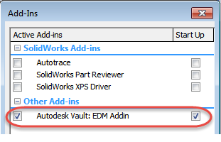 Install the Vault Add-In for Solidworks | Vault Products