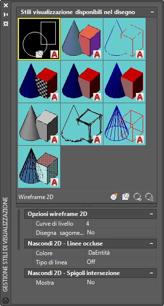 Gestione Stili Di Visualizzazione Autocad 2018 Autodesk