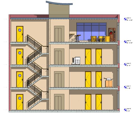 картинка многоэтажного дома в разрезе герой этой части