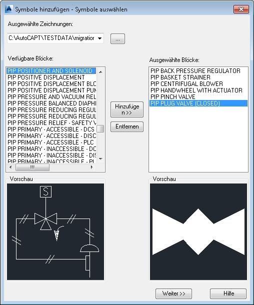 AutoCAD Plant 3D Hilfe: Dialogfeld Symbole hinzufügen - Symbole ...