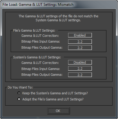 Gamma and LUT Preferences | 3ds Max 2019 | Autodesk