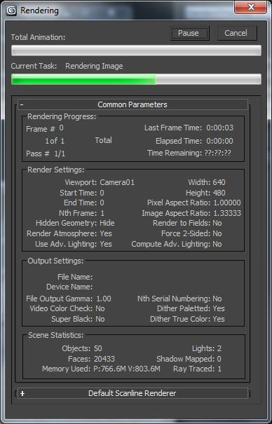 Rendering Progress Dialog | 3ds Max 2019 | Autodesk