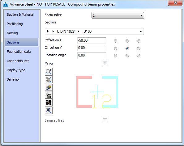 I Beam Section Properties