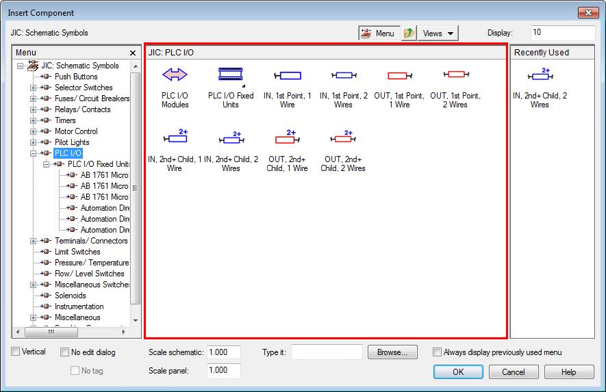 Stand-alone PLC I/O Point Symbols