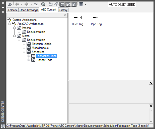 To Add Annotation Symbols From Designcenter Autocad Mep 2019