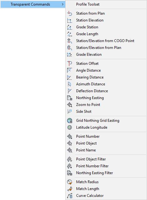 About Transparent Commands | Civil 3D 2019 | Autodesk