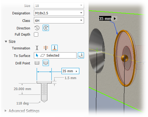 To Create Holes | Inventor 2019 | Autodesk Knowledge Network