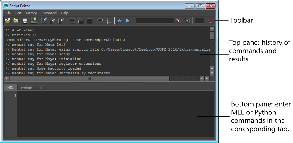 Script Editor | Maya 2019 | Autodesk Knowledge Network