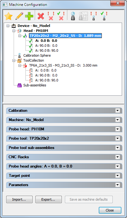 About editing the probe database | PowerInspect 2019