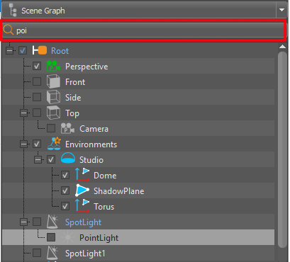 Working with the Scene Graph   VRED Products 2019   Autodesk