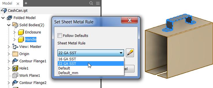 Sheet Metal Updates | Inventor 2020 | Autodesk Knowledge Network