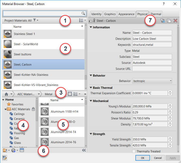 About Material Libraries | Revit Products 2020 | Autodesk Knowledge