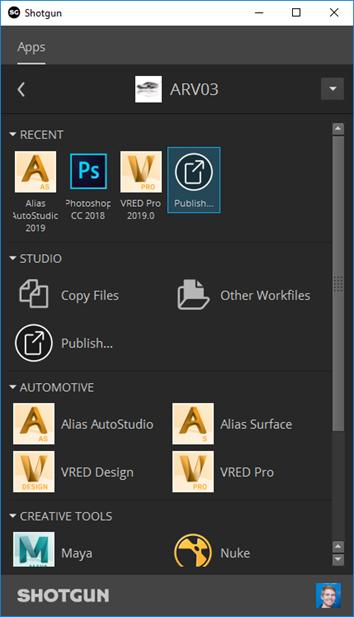 Shotgun Desktop | VRED Products 2020 | Autodesk Knowledge
