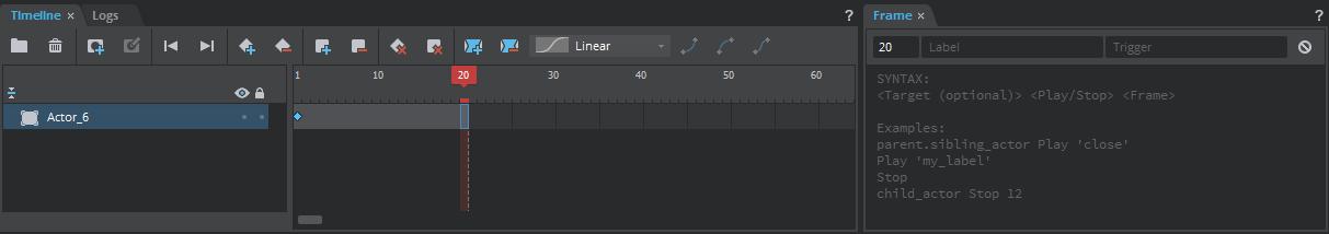 Help: Timeline Panel
