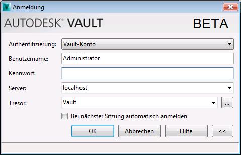 Anmelden und Abmelden   Vault-Produkte   Autodesk Knowledge Network