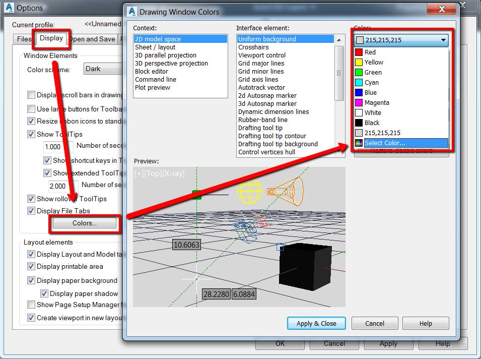 Restoring Default Background Color In Map3D | AutoCAD 2019 | Autodesk  Knowledge Network