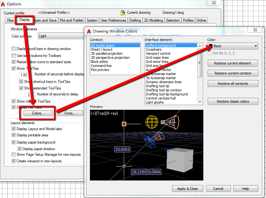 How To Change The Canvas Background Color In AutoCAD | AutoCAD | Autodesk  Knowledge Network