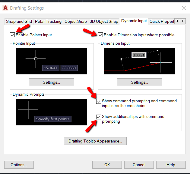 Cómo activar o desactivar la entrada dinámica en AutoCAD | AutoCAD | Autodesk Knowledge Network