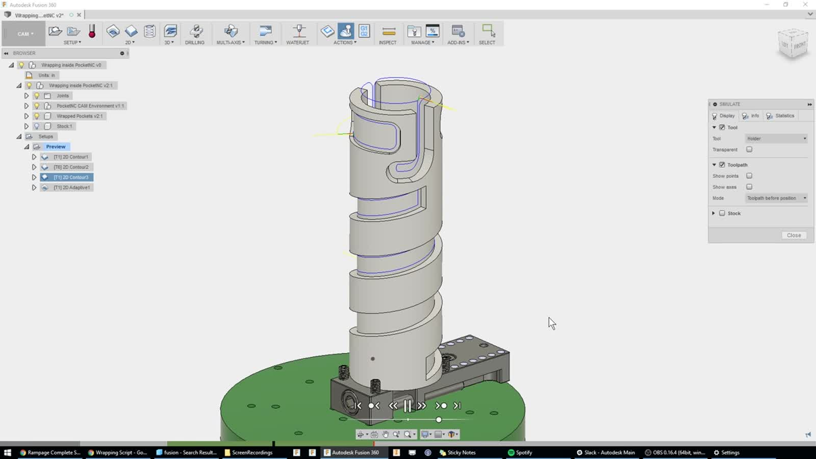 4th Axis Wrap Toolpath | Search | Autodesk Knowledge Network