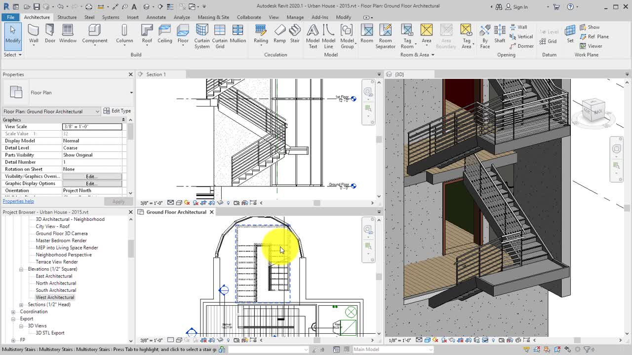 Modify Stair Components Using Direct Manipulation Controls | Revit Products  2016 | Autodesk Knowledge Network