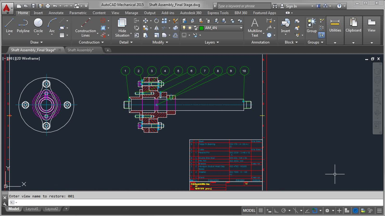 About Creating Parts Lists and Balloons (video) | AutoCAD