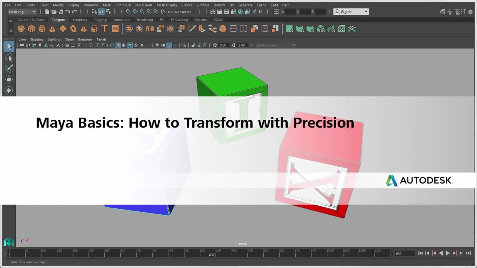 Move, rotate, and scale using precise values | Maya 2018