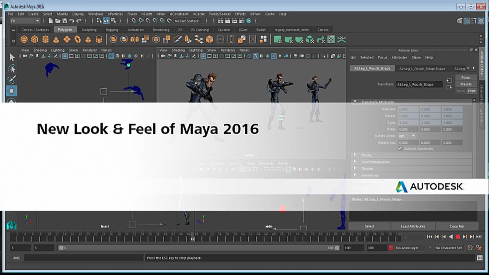 What's New in the Maya Interface   Maya 2016   Autodesk