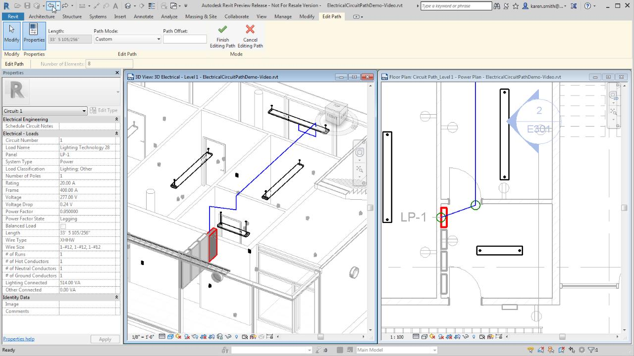 Editing A Circuit Path Revit Products 2018 Autodesk Knowledge Troubleshooting Electrical Circuits Training Software Network