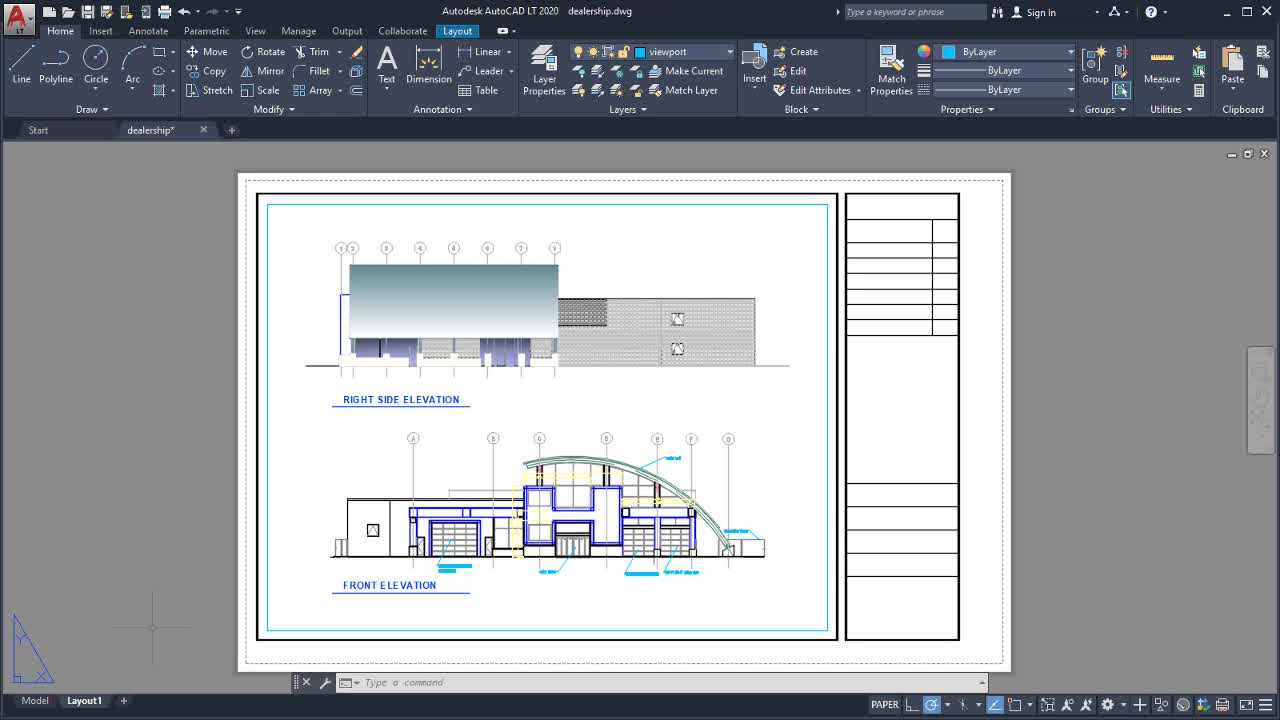 Plot A Drawing Layout Video Autocad Lt 2020 Autodesk Knowledge Network