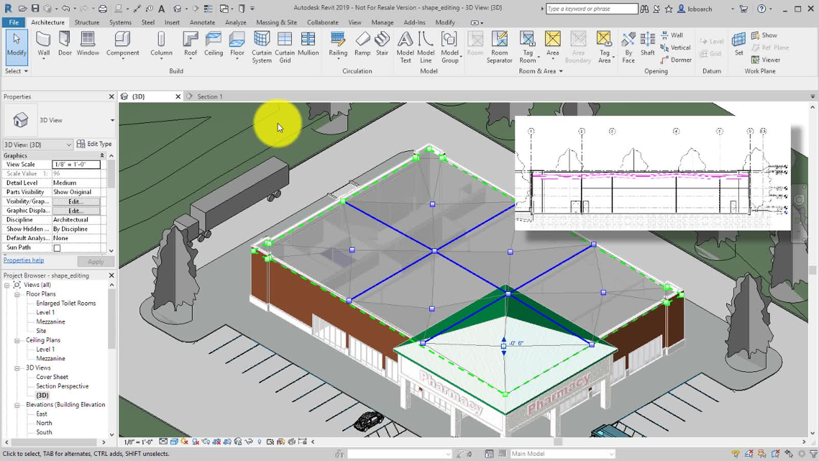 Video Shape Editing Roof And Floor Slabs Revit Products 2019 Autodesk Knowledge Network
