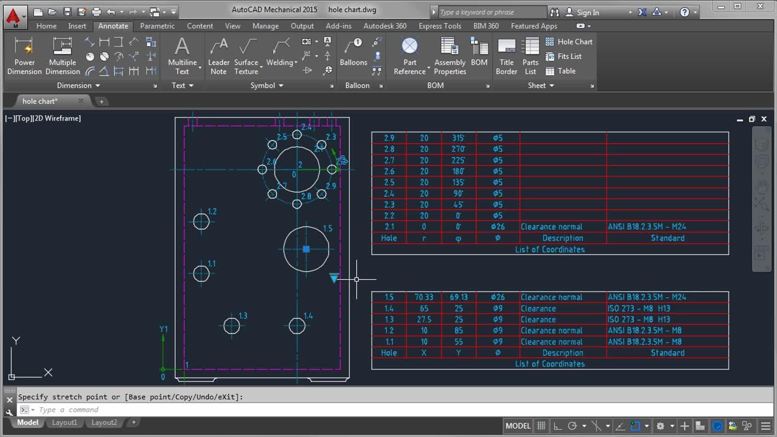 Hole Symbol Autocad - Autocad - Design Pallet Workshop
