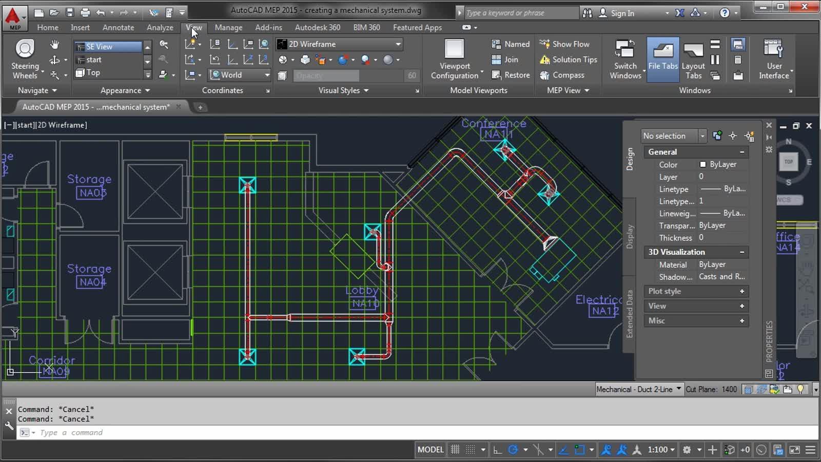 AutoCAD MEP - Creating a Mechanical System   AutoCAD MEP   Autodesk