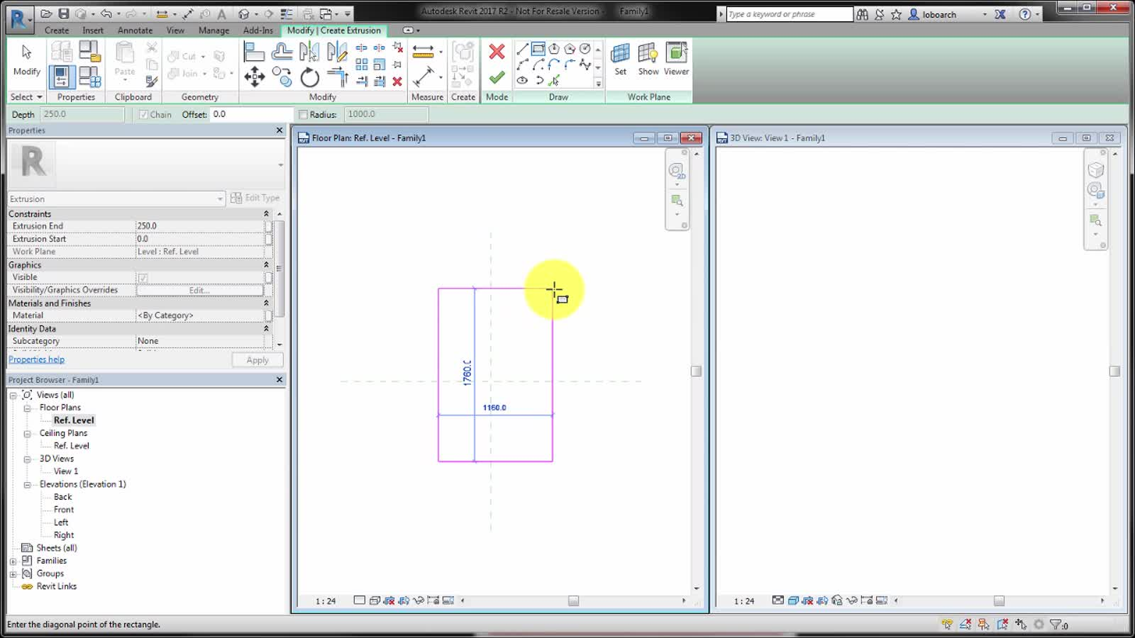 Video: Create an Extrusion | Revit Products 2019 | Autodesk