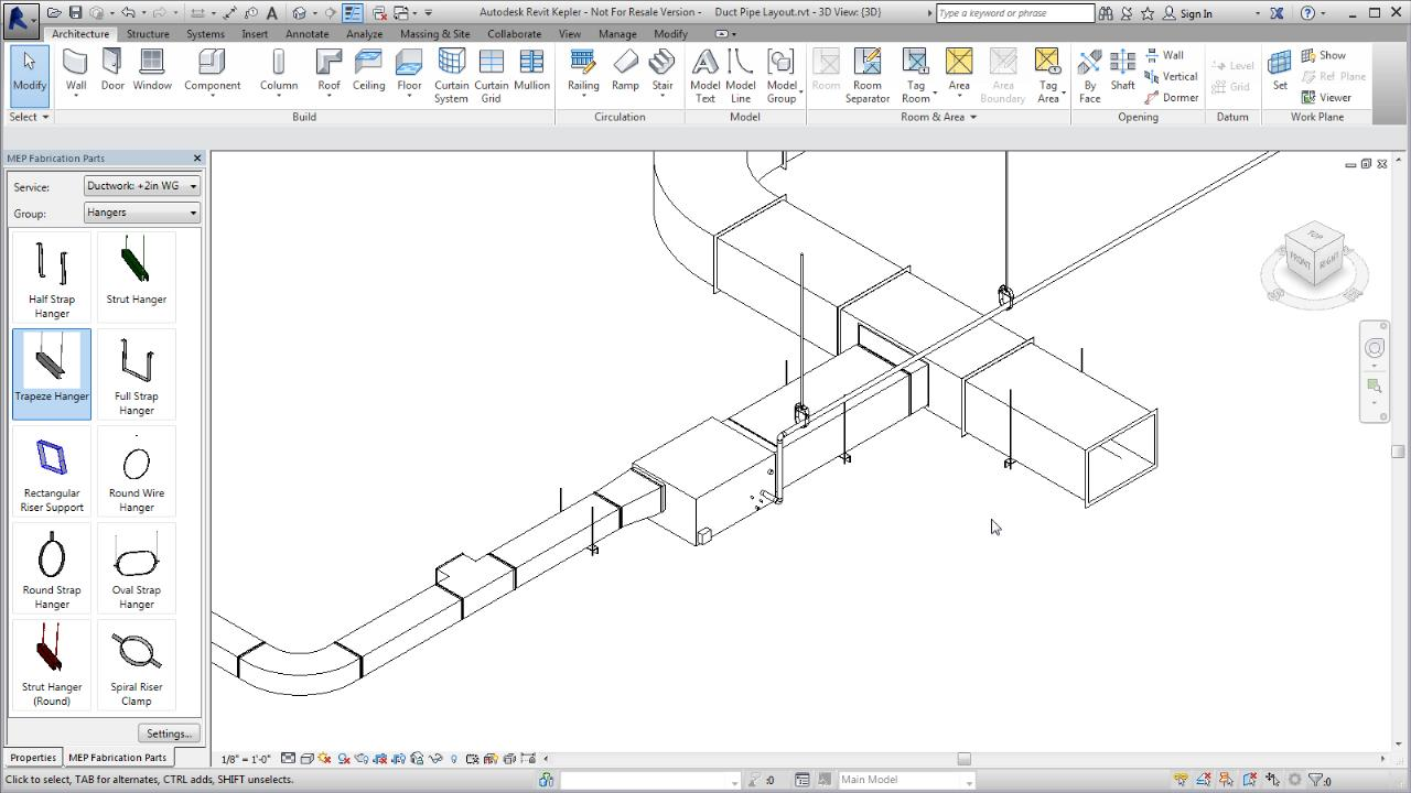 Place Fabrication Parts In A Revit Model Products 2017 Piping Layout Drawings Download Autodesk Knowledge Network